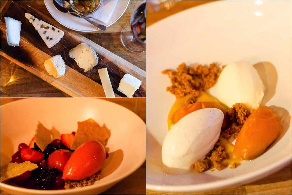 Kok & Vin, Odense, Ost, Dessert, Rød grød med fløde