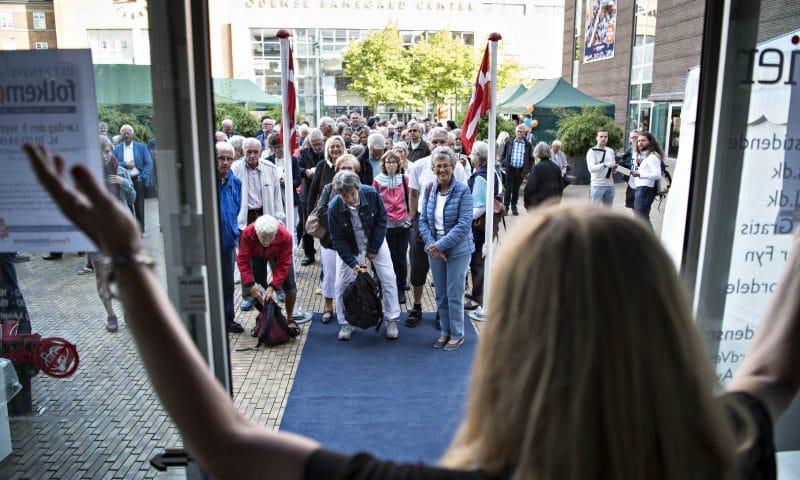 Sådan så det ud, da politisk redaktør Elisabet Svane åbnede dørene til Det Fynske Folkemøde i 2016. (foto: Michael Bager/Fyens Stiftstidende)