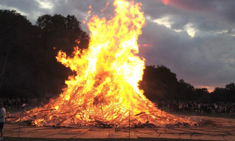 Det store Sankt Hans bål på Engen tændes ikke i år. Foto: ODense Kommune