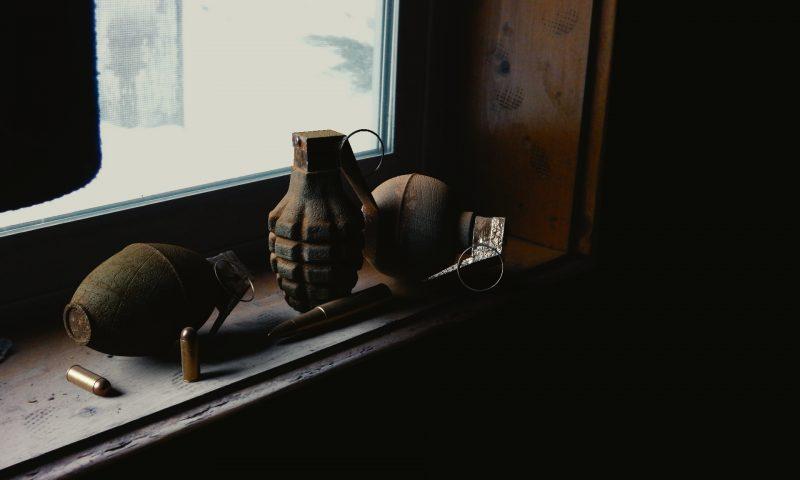 Arkivfoto af en håndgranat