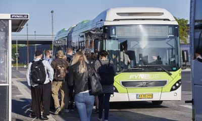 Odense: Fynbus holdeplads nord ved Odense Banegårdcenter OBC. Foto: Robert Wengler