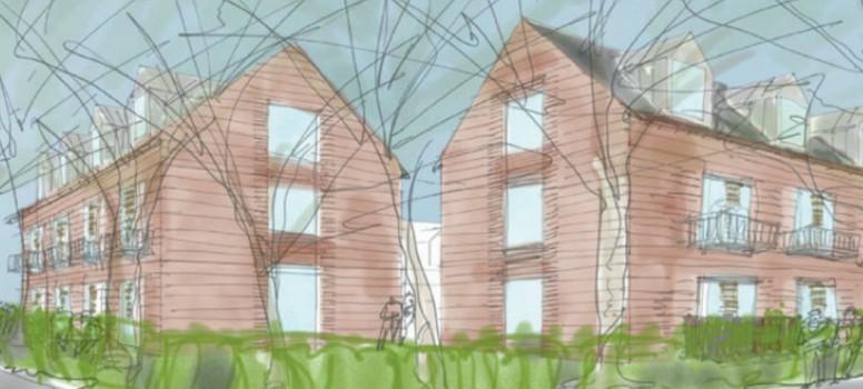Sådan skal de nye boliger se ud Illustration: Sandal Ejendomme