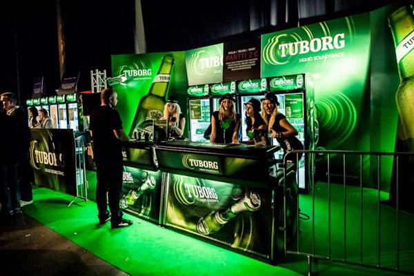 Arkivfoto af Tuborg Bar