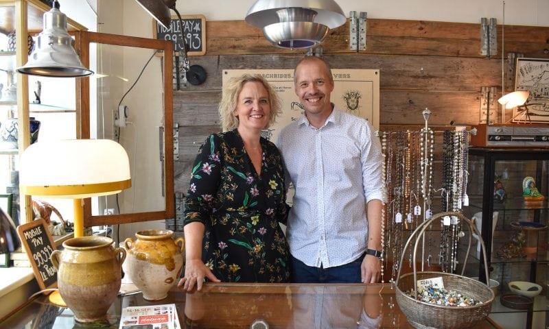 Aalborg-parret Katerina Freng og Mikkel Aagaard, der står bag det store Vintage Deluxe Marked