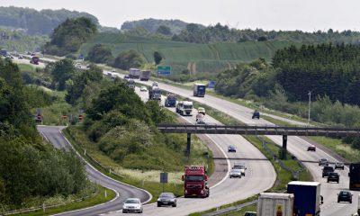Arkivfoto: E20 Motorvejen. Læs i artiklen, hvor hændelserne i går fandt sted.