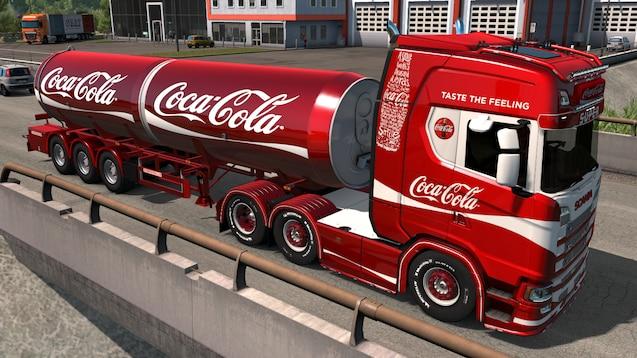 OBS - dette er et arkivfoto af en Coca-Cola bil